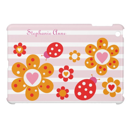 Lovely Ladybird Flowers iPad Mini Case