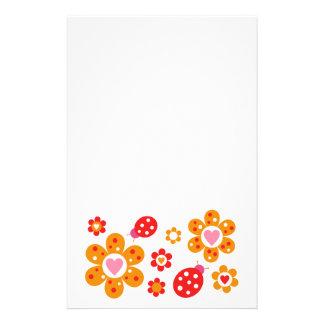 Lovely Ladybird Flowers Stationery