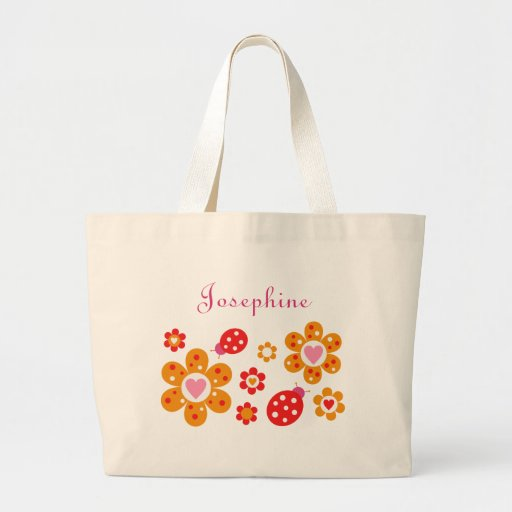 Lovely Ladybird Flowers Tote Bag