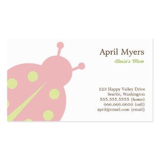 Lovely Ladybug Mommy Cards