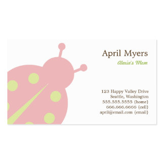 Lovely Ladybug Mommy Cards Double-Sided Standard Business Cards (Pack Of 100)