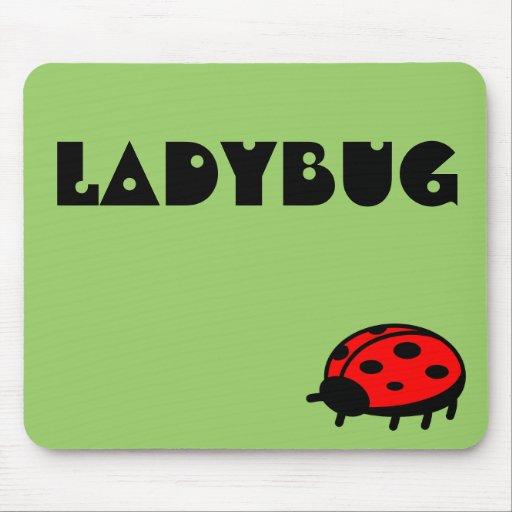 Lovely Ladybug Name Mousepad