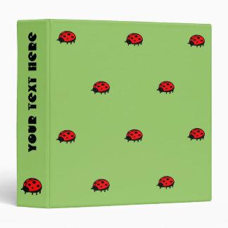 Lovely Ladybug Pattern Binder
