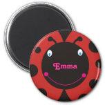 Lovely Ladybug Personalized Name Fridge Magnets Magnet
