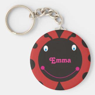 Lovely Ladybug Personalized Name Keyrings Keychain