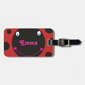 Lovely Ladybug Personalized Name Luggage Tag