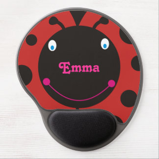 Lovely Ladybug Personalized Name Mousepad