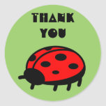 Lovely Ladybug Thank You Sticker