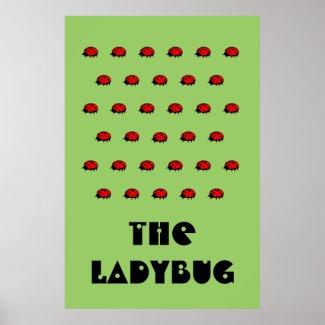 Lovely Ladybug The Ladybug Pattern Poster