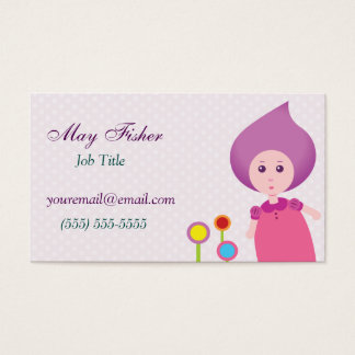 Lovely Lana Lea Runs Through The Flowers Business Card