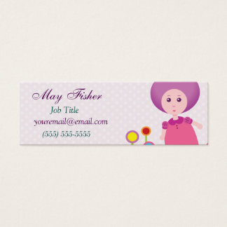 Lovely Lana Lea Runs Through The Flowers Mini Business Card