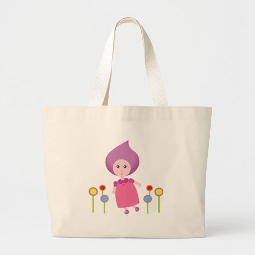 Lovely Lana Lea Runs Through The Flowers Tote Bag