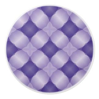Lovely Lavender and Purple Lattice Digital Design Ceramic Knob