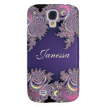 Lovely Lavender Fractal Personalized S4 Case Samsung Galaxy S4 Cover