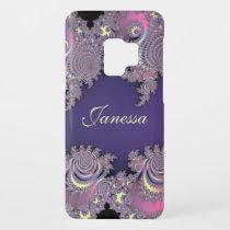 Lovely Lavender Fractal Personalized S9 Case