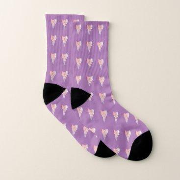 Lovely Lavender Hearts Socks