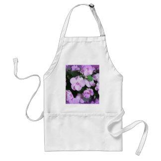 Lovely Lavender Impatiens Adult Apron