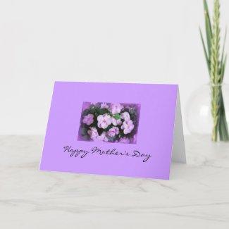 Lovely Lavender Impatiens card