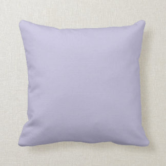 Lovely Lavender Pale Purple Solid Color Background Pillow