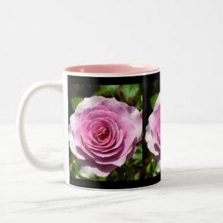 Lovely Lavender Roses Two-Tone Coffee Mug