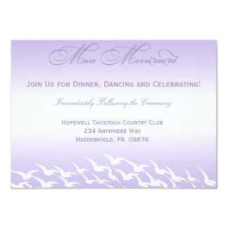 Lovely Lavender Wedding Reception Cards Personalized Invitations