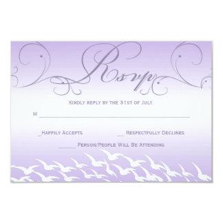 Lovely Lavender Wedding RSVP Card Invitations