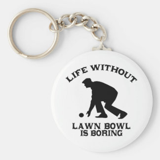Lovely Lawn bowl DESIGNS Keychain