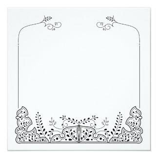 Lovely Leaves Frame Blank Square Card