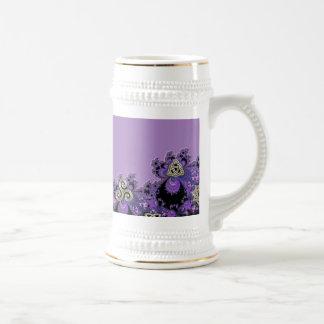 Lovely Leo Lavender Fractal Design Decor Beer Stein