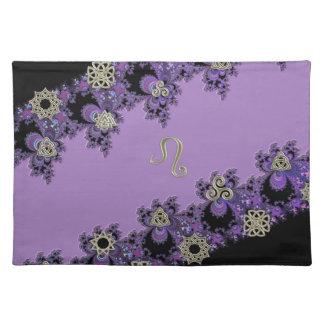Lovely Leo Lavender Fractal Placemat
