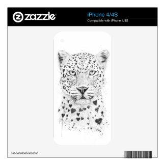 Lovely leopard iPhone 4 skin