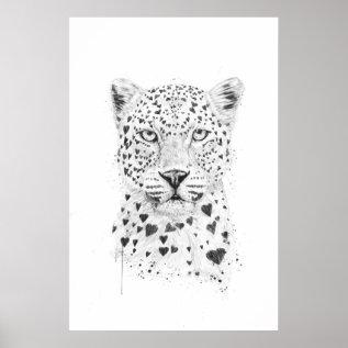 Lovely Leopard Poster at Zazzle