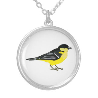 Lovely Lesser Goldfinch Silver Plated Necklace