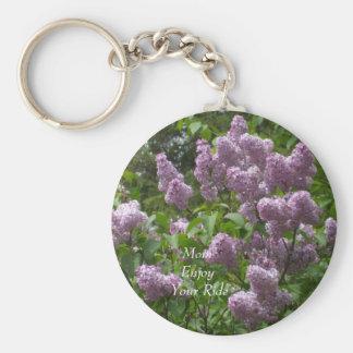 Lovely Lilac Bush Keychain