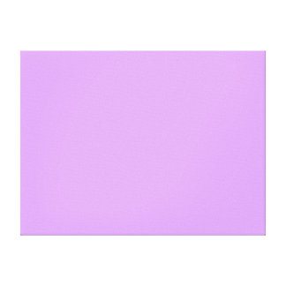 Lovely Lilac Solid Color Canvas Print