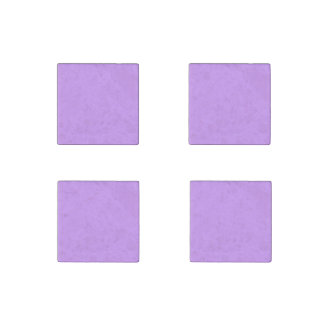 Lovely Lilac Solid Color Stone Magnet