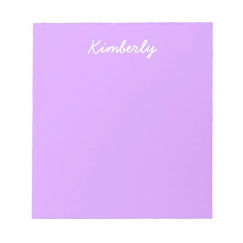 Lovely Lilac Solid Color Notepad