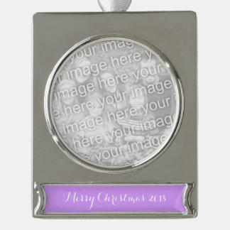 Lovely Lilac Solid Color Silver Plated Banner Ornament