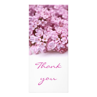 Lovely lilac  Thank you card Rack Card Template