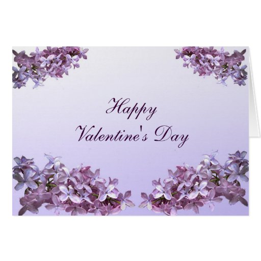 Lovely Lilacs Valentine Card