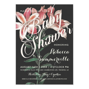Lily baby shower invitations announcements zazzle lovely lily botanical baby shower invitations filmwisefo