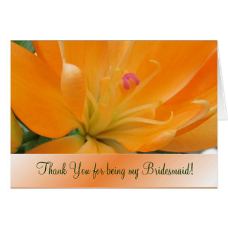 Lovely Lily Bridemaid Notecard