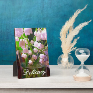 Lovely Lily of The Valley In Water Glass Plaque