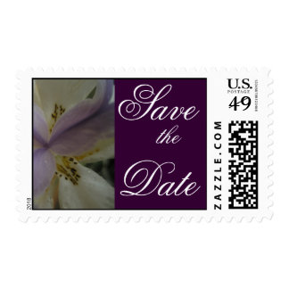 Lovely Lily Wedding Postage Stamps