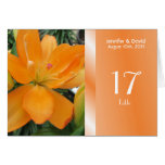 Lovely Lily Wedding Table Number Card