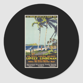 Lovely Lindeman Great Barrier Reef Classic Round Sticker