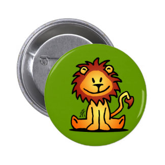 Lovely Lion Pinback Button