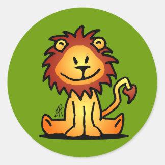 Lovely Lion Round Sticker