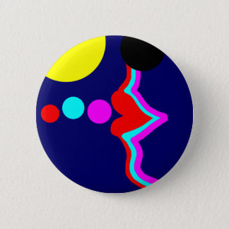 Lovely lips blowing bubbles in the sun. pinback button