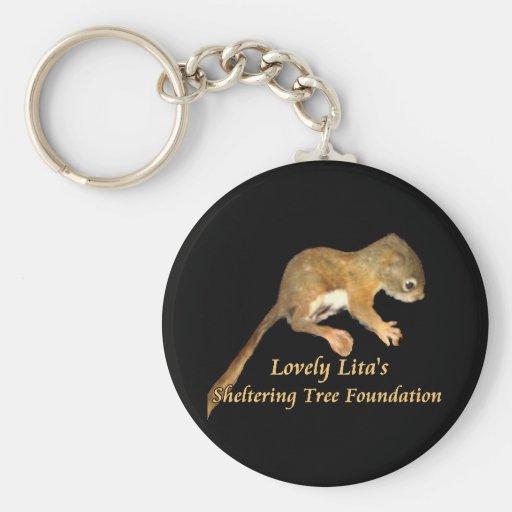 Lovely Lita's baby squirrel keychain